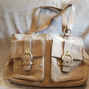 Coach suede satchel